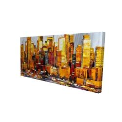 Canvas 24 x 48 - 3D - Orange buildings