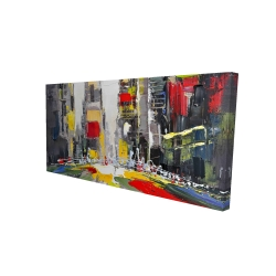 Canvas 24 x 48 - 3D - Abstract texturized cityscape