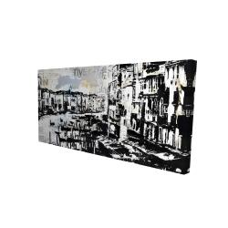 Canvas 24 x 48 - 3D - Abstract venise port