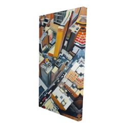 Canvas 24 x 48 - 3D - High top view of buildings in new york