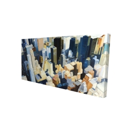Canvas 24 x 48 - 3D - Manhattan view of the empire state building