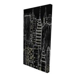Canvas 24 x 48 - 3D - Illustrative dark city