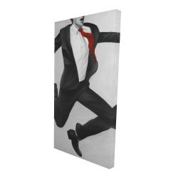 Canvas 24 x 48 - 3D - Happy classic man