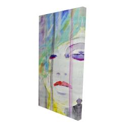 Canvas 24 x 48 - 3D - Abstract colorful portrait