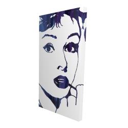 Canvas 24 x 48 - 3D - Audrey hepburn: cigarillo