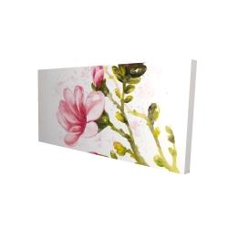 Canvas 24 x 48 - 3D - Watercolor magnolia flowers