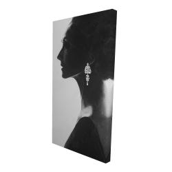 Canvas 24 x 48 - 3D - Chic woman