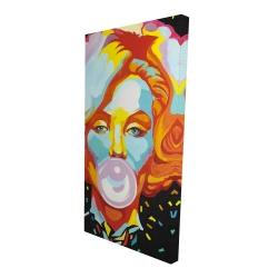 Canvas 24 x 48 - 3D - Colorful marilyne monroe bubblegum