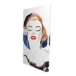 Canvas 24 x 48 - 3D - Vintage chic maryline monroe