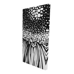 Canvas 24 x 48 - 3D - Gerbera flower