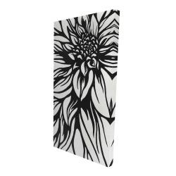 Canvas 24 x 48 - 3D - Dahlia flower outline style