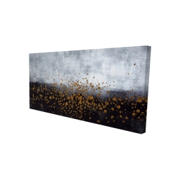 Canvas 24 x 48 - 3D - Gold paint splash on gray background