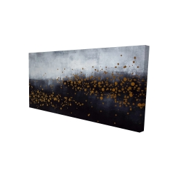 Canvas 24 x 48 - 3D - Two shades of gray with gold dots
