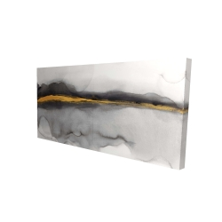 Canvas 24 x 48 - 3D - Gold stripe abstract