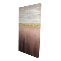 Canvas 24 x 48 - 3D - Golden pink