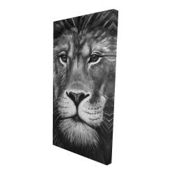 Canvas 24 x 48 - 3D - Lion portrait