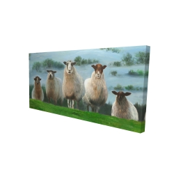 Canvas 24 x 48 - 3D - Flock of sheep