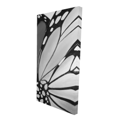 Canvas 24 x 48 - 3D - Monarch wings closeup