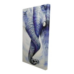 Canvas 24 x 48 - 3D - Elephant couple loving each other