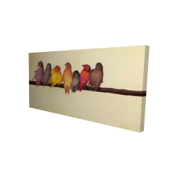 Canvas 24 x 48 - 3D - Bird family