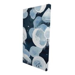 Canvas 24 x 48 - 3D - Jellyfishs