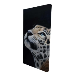 Canvas 24 x 48 - 3D - Realistic leopard face