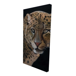 Canvas 24 x 48 - 3D - Realistic fierce leopard