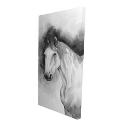 Canvas 24 x 48 - 3D - Domino horse