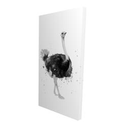 Canvas 24 x 48 - 3D - Proud ostrich