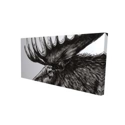 Canvas 24 x 48 - 3D - Moose plume