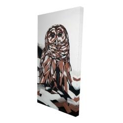 Canvas 24 x 48 - 3D - Tawny owl