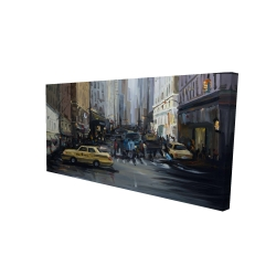 Canvas 24 x 48 - 3D - In the city