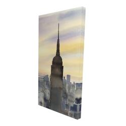 Canvas 24 x 48 - 3D - Sunset over new york city
