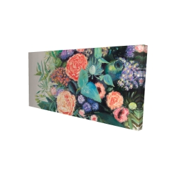Canvas 24 x 48 - 3D - Flowers melody