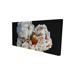 Canvas 24 x 48 - 3D - Blooming peonies