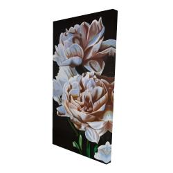 Canvas 24 x 48 - 3D - Peonies