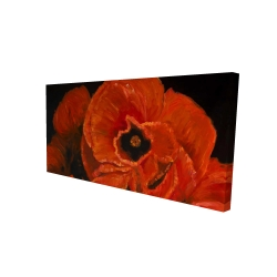 Canvas 24 x 48 - 3D - Poppy bouquet