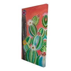 Canvas 24 x 48 - 3D - Rainbow cactus