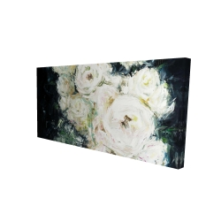 Canvas 24 x 48 - 3D - Garden roses
