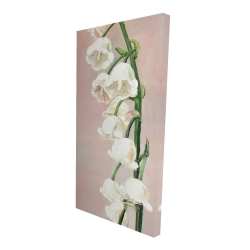 Canvas 24 x 48 - 3D - Lily of the valley flowers