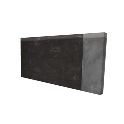 Canvas 24 x 48 - 3D - Four shades of gray