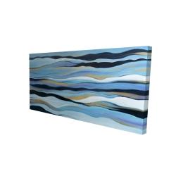 Canvas 24 x 48 - 3D - Blue sweep