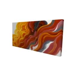 Canvas 24 x 48 - 3D - Colorful smoke