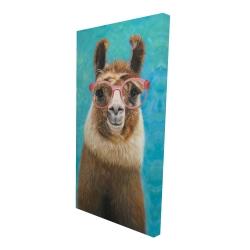 Canvas 24 x 48 - 3D - Lovable llama