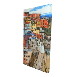 Canvas 24 x 48 - 3D - View of manarola in italy