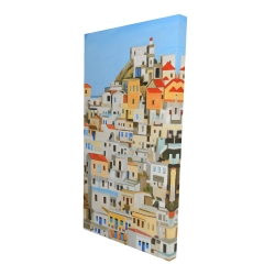 Canvas 24 x 48 - 3D - Small houses in greece