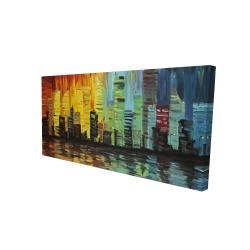 Canvas 24 x 48 - 3D - City with color tones