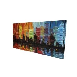 Canvas 24 x 48 - 3D - Colorful cityscape