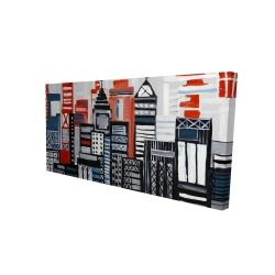 Canvas 24 x 48 - 3D - Geometric urban landscape