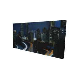 Canvas 24 x 48 - 3D - Atlanta at night